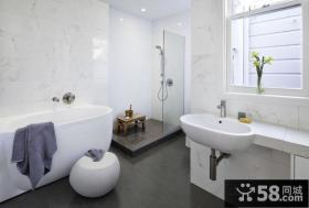 现代时尚复式楼卫生间装修效果图大全2012图片