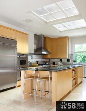 开放式厨房橱柜台面装修效果图欣赏