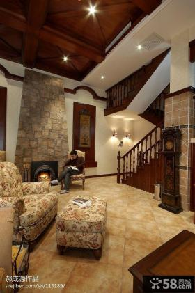 客厅复式楼梯装修效果图