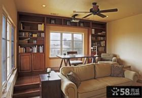小户型缔造美式经典书房装修效果图大全2012图片