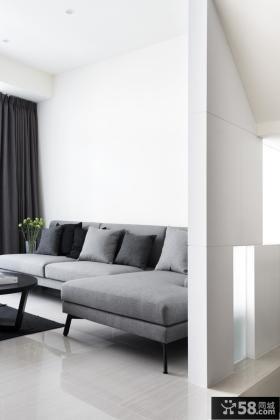 极简时尚现代二居设计案例