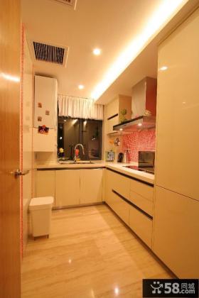 现代风格两室两厅家装厨房装修效果图
