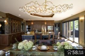 美式风格装修案例 美式乡村风格案例 餐厅吊顶图片