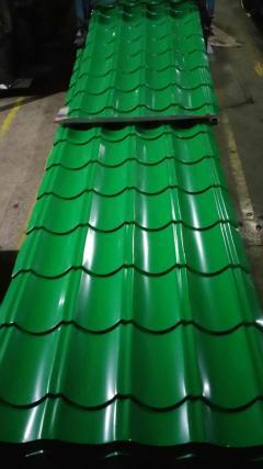 钢结构建筑活动板房顶仿古金属彩钢板琉璃铁皮屋面瓦棚