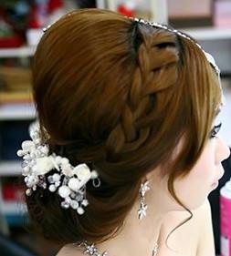 新娘妆造型两次,手工仿真睫毛和特制夸张睫毛,闪亮身体美白粉乳,伴娘图片