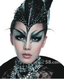 t台妆面精灵造型 t台创意妆整体造型 t台妆面精灵造型图片