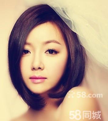 韩式短发新娘发型