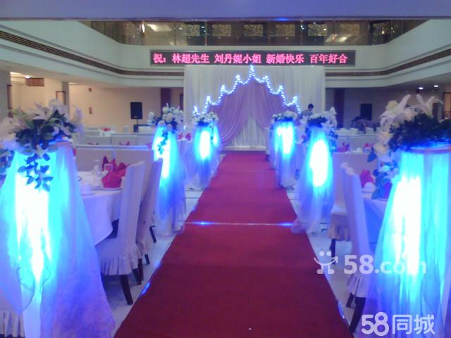 二,红馆婚庆会场布置 6,个性舞台背景布置  欧式布艺布缦舞台,韩式