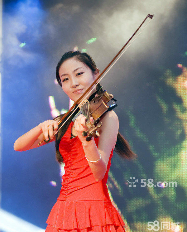 激光舞激光竖琴美女不倒翁奥运缶小提琴演奏信息编.图片