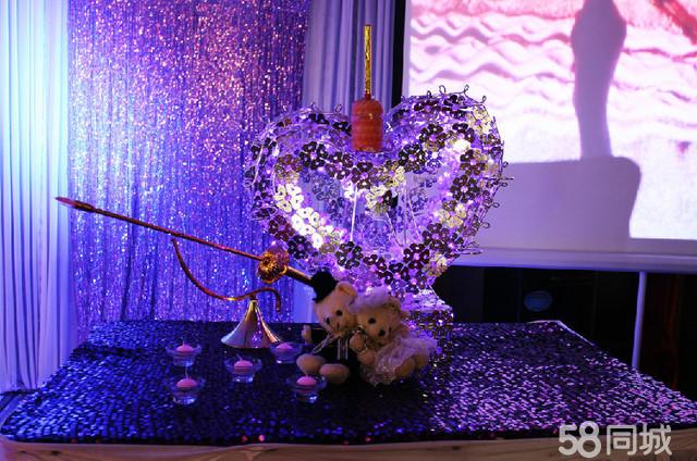 仿真花日光婚礼系列2288元1 欧式浪漫纱幔背景(包括当下最流行的紫色