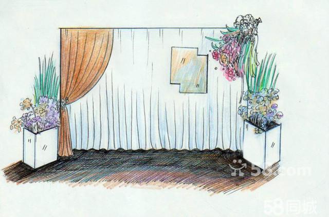 海洋主题房间手绘图