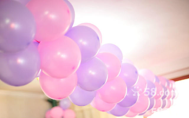 气球拱门 气球链 娘家,婆家 新房 楼口 凉台装饰