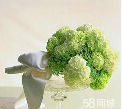 绿色欧式婚纱图片