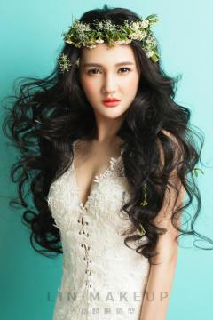 婚庆新娘跟妆彩妆造型发型整体造型